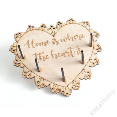Szív alakú fali kulcstartó