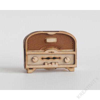 Kis rádió alakú persely