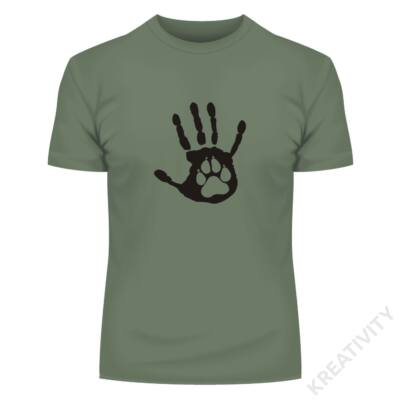 Mancs a kézben mintás póló