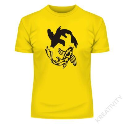 Jing-jang halak feliratos póló
