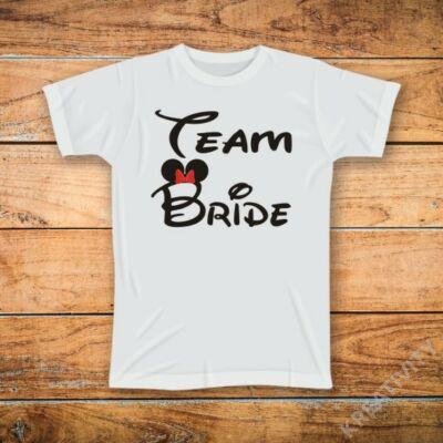 Team Bride feliratos póló