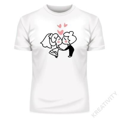 Ifjú házasok mintás póló