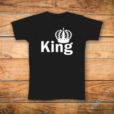 King mintás póló