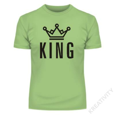 KING poligon feliratos póló