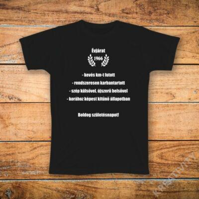 Évjárat feliratos póló