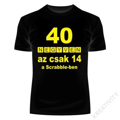 Scrabble feliratos póló