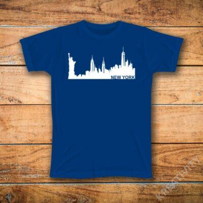 New York mintás póló