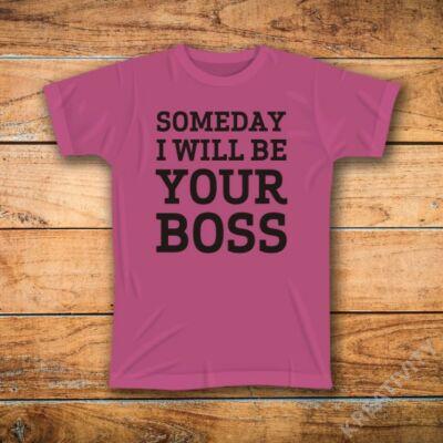 Főnök feliratos póló
