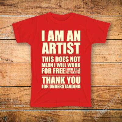 Művész mintás póló