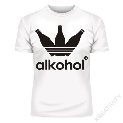 Alkohol feliratos póló