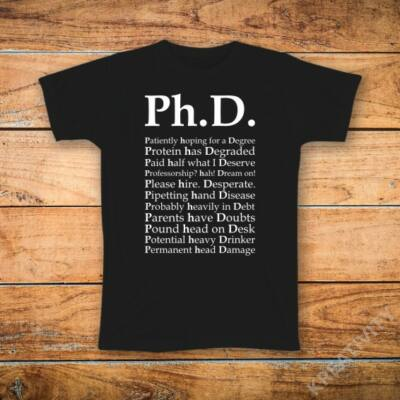 PHD jelentése feliratos póló